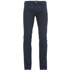 BOSS Orange Men's Tapered Fit Unwashed Denim Jeans - 407 Blue