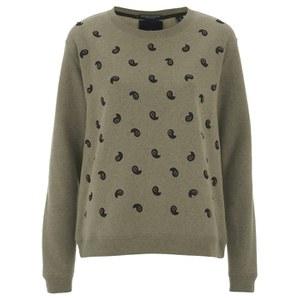 Maison Scotch Women's Embellished Sweatshirt - Beige Melange