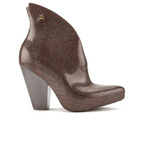 Vivienne Westwood for Melissa Women's Satyr Pointed Heeled Ankle Boots - Plum Glitter
