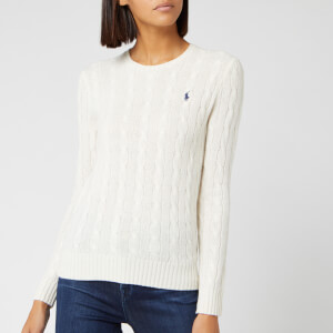 Polo Ralph Lauren Women's Julianna Classic Long Sleeve Sweater - Cream