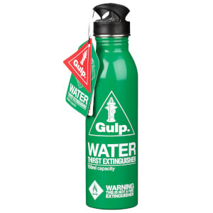 Green Glugg Waterbottle Thirst Extinguisher