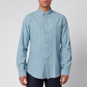 Polo Ralph Lauren Men's Slim Fit Chambray Shirt - Medium Wash