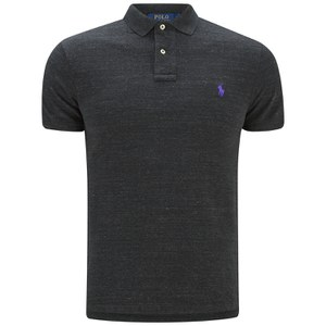 Polo Ralph Lauren Men's Slim Fit Short Sleeve Polo Shirt - Black Coal