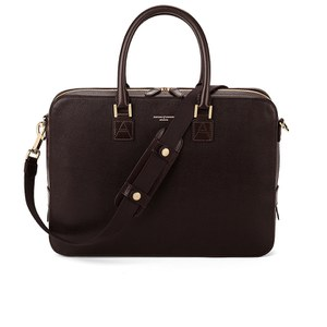 Aspinal of London Small Mount Street Bag - Brown