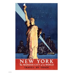 Vintage Travel New York Print