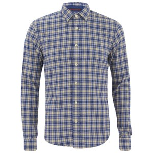Scotch & Soda Men's Multicolour Check Shirt - Blue