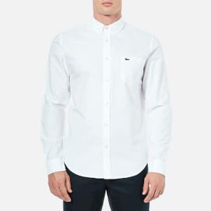 Lacoste Men's Oxford Long Sleeve Shirt - White