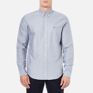 Lacoste Men's Oxford Long Sleeve Shirt - Navy