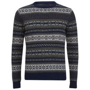 GANT Men's Jacquard Lambswool Crew Sweater - Multi