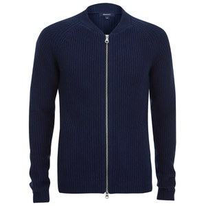 GANT Men's Ribbed Wool Blend Jacket - Blue