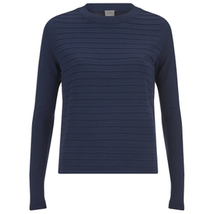 Y.A.S Women's Lima Ribbed Jumper - Navy