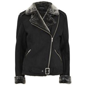 MINKPINK Women's Under Control Aviator Jacket - Black
