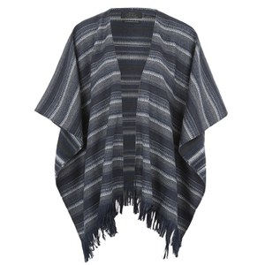 ONLY Womens Chris Wool Poncho - Dark Navy
