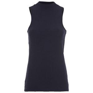ONLY Women's Brooks Rib Turtleneck Top - Peacoat