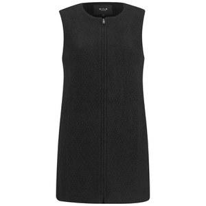 VILA Women's Woolen Waistcoat - Black