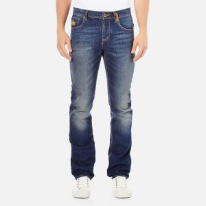 Superdry Men's Officer Denim Jeans - Monty Blue Light