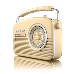 Akai Retro 50s FM/AM Radio - Cream