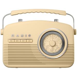 Akai Retro 50s FM/AM Radio - Cream