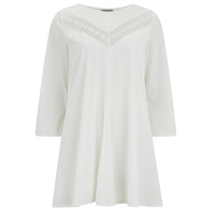 Vero Moda Women's Sonia 3/4 Length Sleeve Dress - Snow White