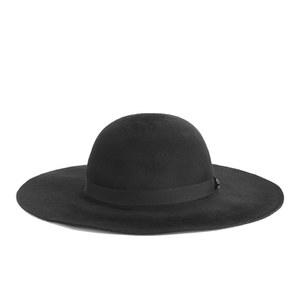 Maison Scotch Women's Round Wide Rimmed Hat - Black