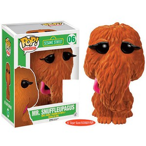 Sesame Street Mr Snuffleupagus Flocked SDCC Exclusive 6 Inch Funko Pop! Vinyl
