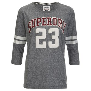 Superdry Women's Campus Applique T-Shirt - Rugged Grey