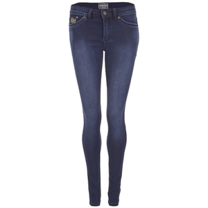 Superdry Women's Super Skinny Jeans - Mid Blue Worn