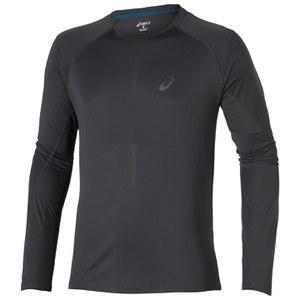 Asics Men's Elite Long Sleeve Running Top - Dark Grey