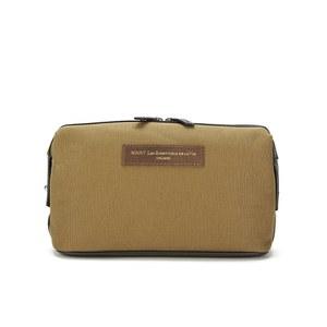 WANT LES ESSENTIELS Men's Kenyatta Dopp Kit Wash Bag - Beige/Moleskin