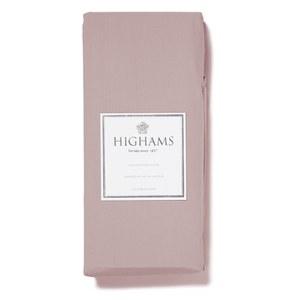 Highams 100% Egyptian Cotton Plain Dyed Flat Sheet - Pink