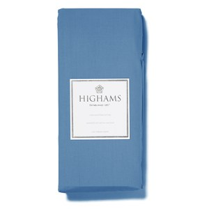 Highams 100% Egyptian Cotton Plain Dyed Valance Sheet - Steel Blue
