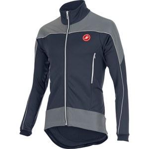 Castelli Mortirolo Reflex Jacket - Blue/White/Reflex