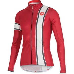 Castelli Storica Long Sleeve Jersey - Red/Cream