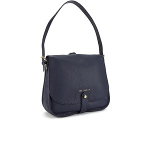 Ted Baker Women's Gailia Exotic Trim Stab Stitch Hobo Bag - Navy