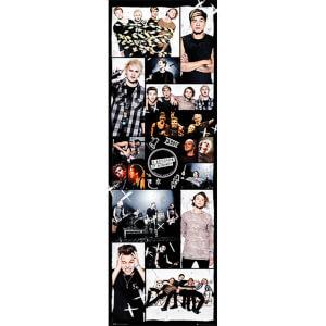 5 Seconds of Summer Grid 2 - 21 x 59 Inches Door Poster