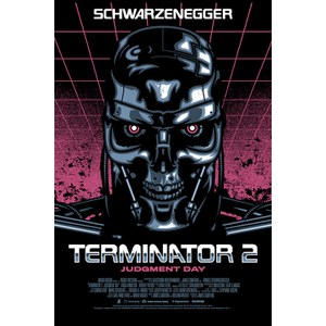 Terminator 2 Signalnoise Metallic Variant Zavvi Exclusive - 18 x 24 Inches Numbered Screen Print