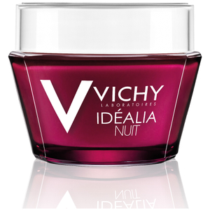 Vichy Idéalia Night Recovery Cream with Caffeine and Hyaluronic Acid for Uneven Skin Tone, 1.69 Fl. Oz.