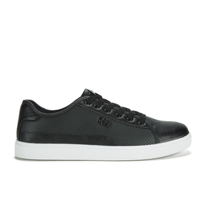 Beck & Hersey Men's Remis Perforated Trainers - Black