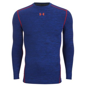 Under Armour Men's Twist Compression Crew Top - Carbon Heather