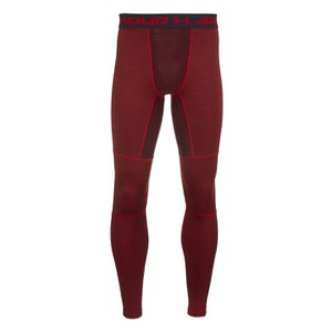Under Armour Men's ColdGear Twist Leggings - Red