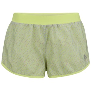 adidas Women's Run 2 Way Running Shorts - Grey/Yellow