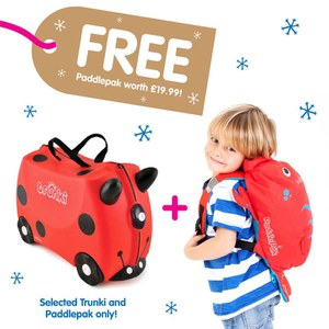 Trunki Harley Suitcase with Free Pinch PaddlePak