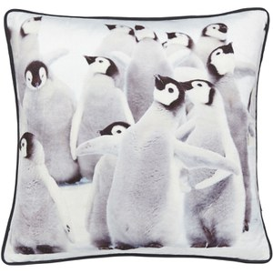 Catherine Lansfield Filled Penguin Cushion - Multi