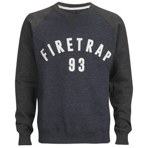 Firetrap Men's Rumsey Crew Neck Raglan Sweatshirt - Midnight
