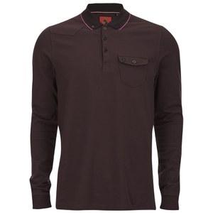 Luke 1977 Men's Aggrigate Collar Long Sleeve Polo Shirt - Port
