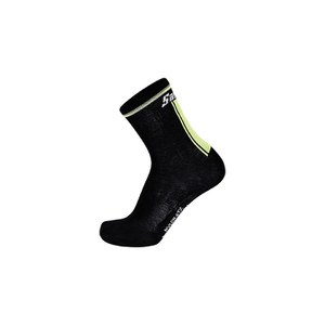 Santini Primaloft 2.0 Winter Medium Profile Socks - Black/Yellow