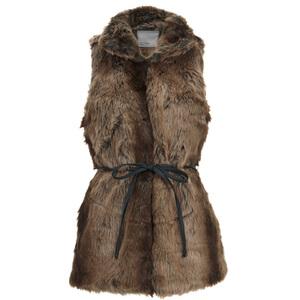 Vero Moda Women's Seal Fake Fur Waistcoat - Black Coffee