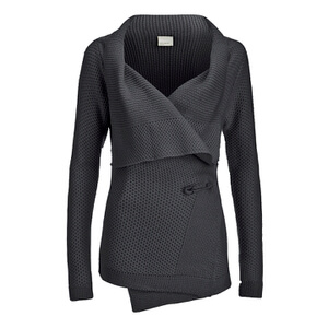 Vero Moda Women's Ripa Long Sleeve Cardigan - Dark Grey Melange