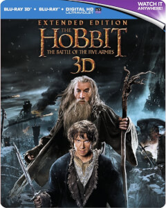 The Hobbit: The Battle of the Five Armies Extended 3D - Limited Edition Steelbook (UK EDITION)