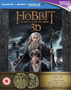 The Hobbit: La Batalla de los Cinco Ejércitos Edición Extendida 3D Exclusive Coin Set